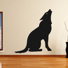 Load image into Gallery viewer, Wolf Howling Halloween Werewolf Horror Wall Art Sticker - Apex Stickers