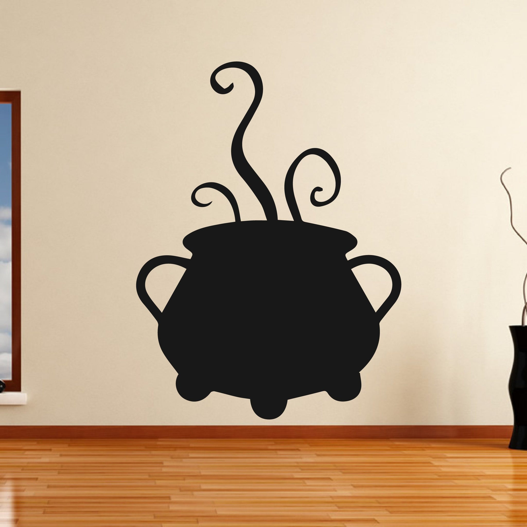 Bubbling Cauldron Cook Pot Witches Halloween Wall Art Sticker - Apex Stickers