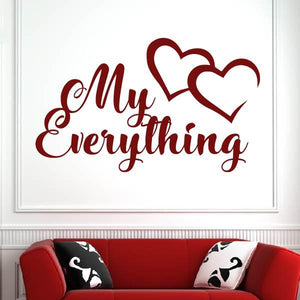 My Everything Love Hearts Message Wall Art Sticker - Apex Stickers
