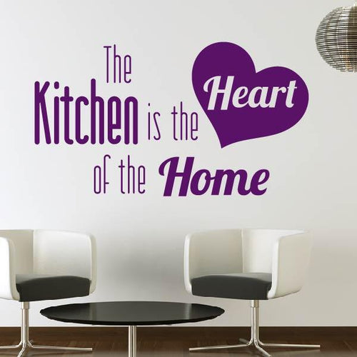 The Kitchen is the Heart of the Home Wall Art Sticker - Apex Stickers