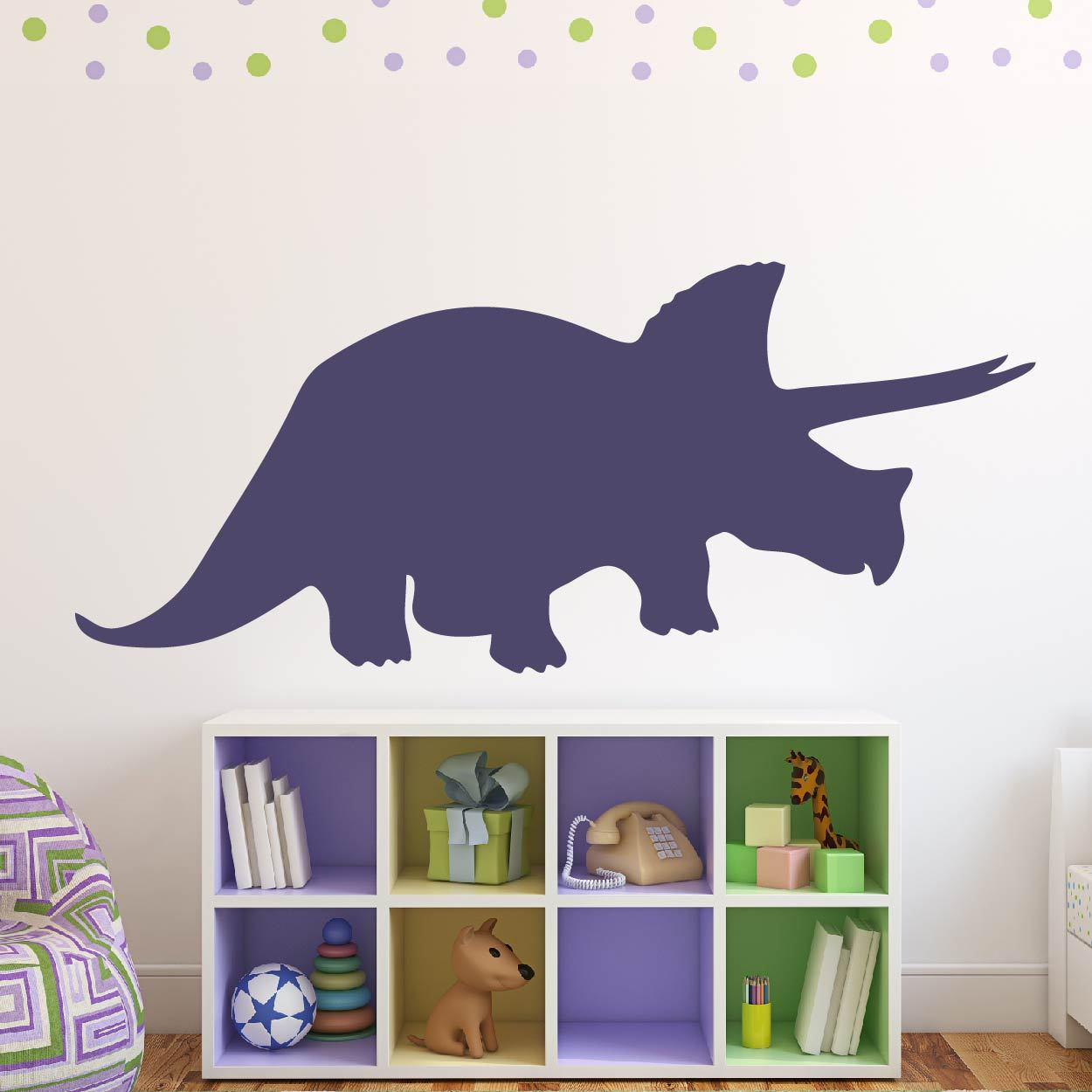 Triceratops Dinosaur Wall Sticker - Apex Stickers