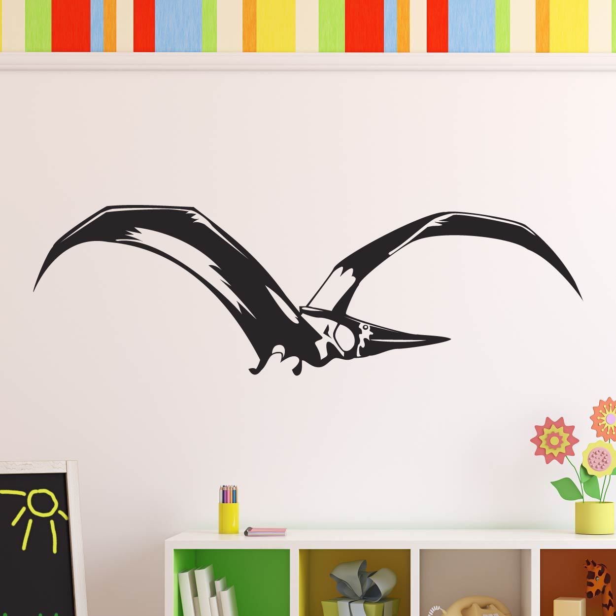 Pterodactyl Dinosaur Wall Art Sticker (AS10337) - Apex Stickers