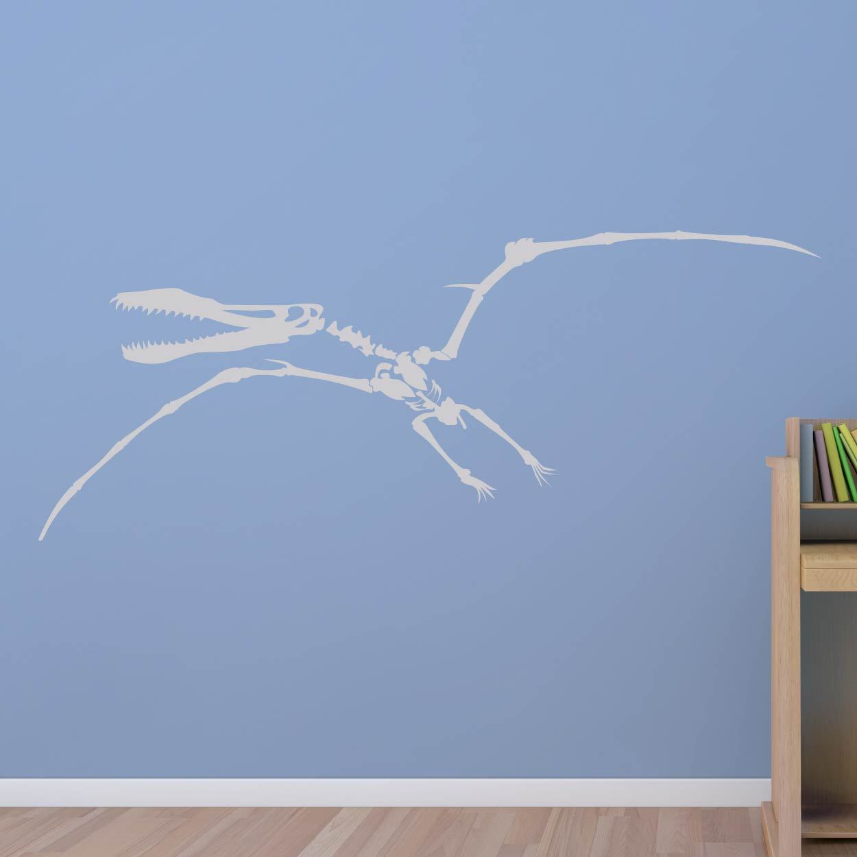 Pterodactyl Skeleton Dinosaur Wall Art Sticker (AS10338) - Apex Stickers