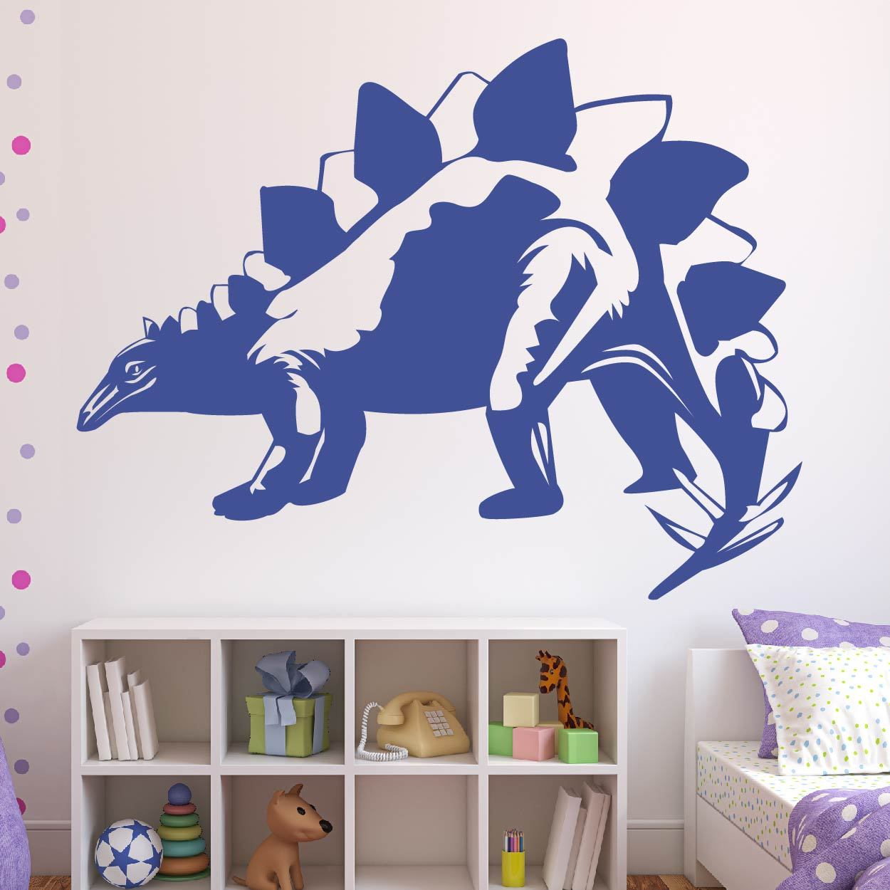Stegosaurus Dinosaur Wall Art Sticker (AS10341) - Apex Stickers
