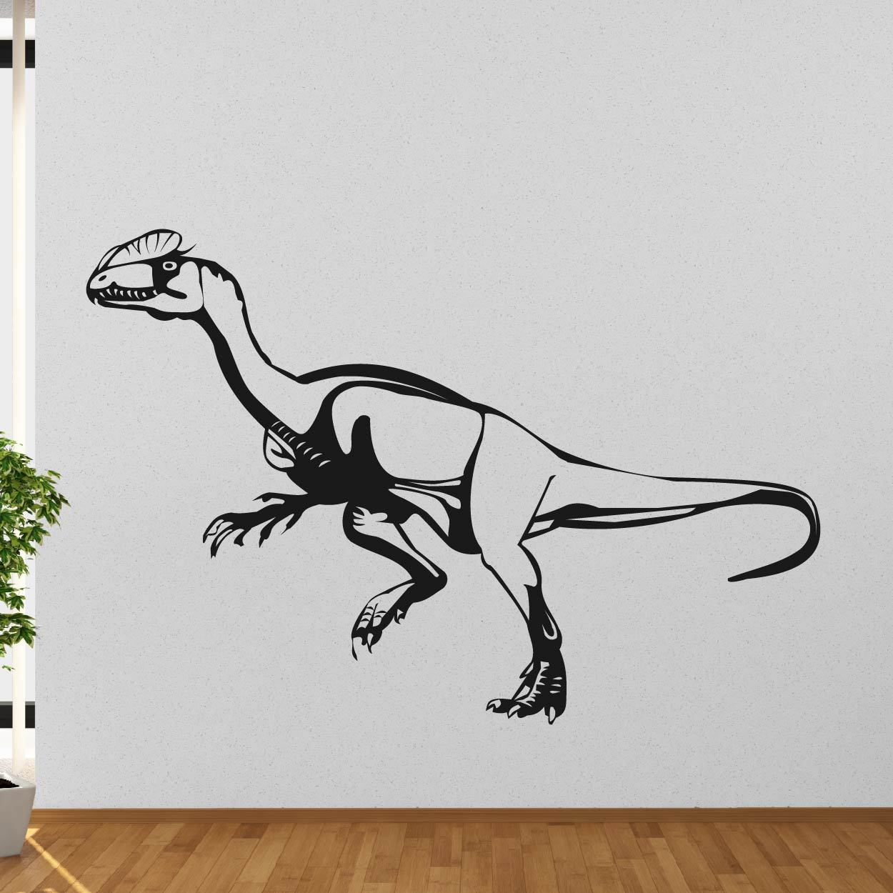 Velociraptor Dinosaur Wall Art Sticker (AS10344) - Apex Stickers