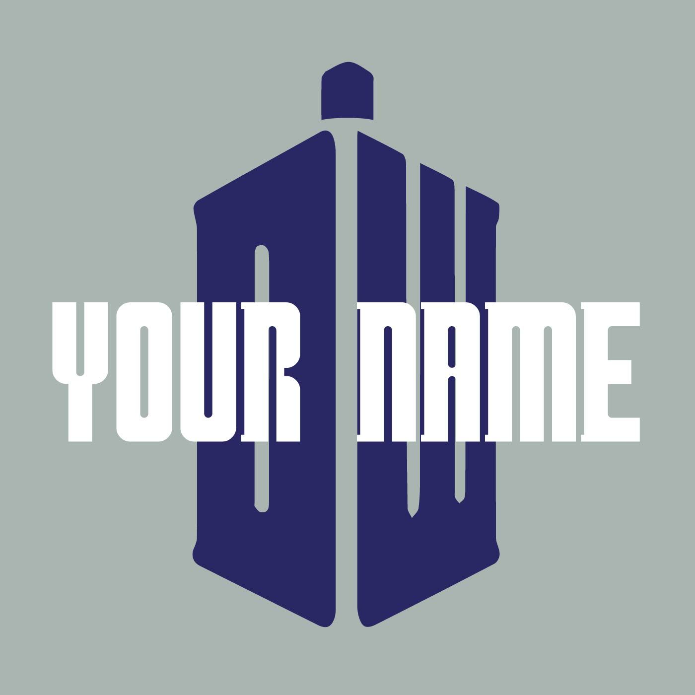 Personalised Name Doctor Who Logo Wall Art Sticker - Apex Stickers