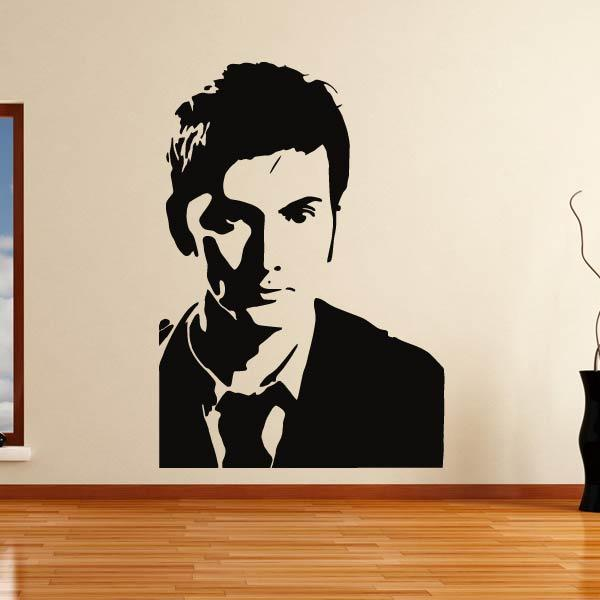 David Tennant Dr Who Portrait Wall Art Sticker (AS10351) - Apex Stickers