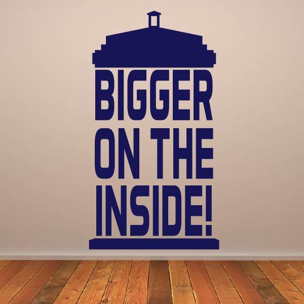 Dr Who Tardis Bigger on the Inside Wall Art Sticker (AS10353) - Apex Stickers