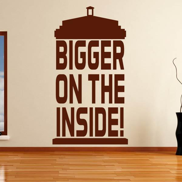 Dr Who Tardis Bigger on the Inside Wall Art Sticker - Apex Stickers
