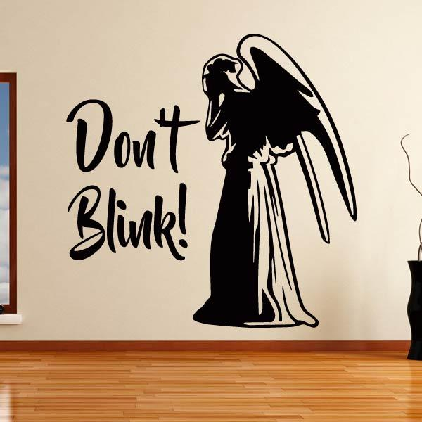Dr Who Weeping Angel Don't Blink Wall Art Sticker (AS10356) - Apex Stickers