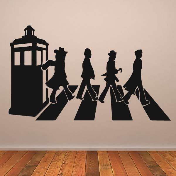 Dr Who Zebra Crossing Beatles Parody Wall Art Sticker (AS10365) - Apex Stickers