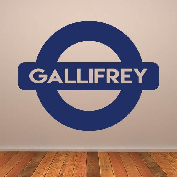 Dr Who Gallifrey Metro Underground Sign Wall Art Sticker (AS10367) - Apex Stickers