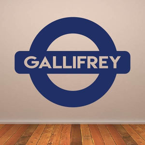 Dr Who Gallifrey Metro Underground Sign Wall Art Sticker (AS10367)