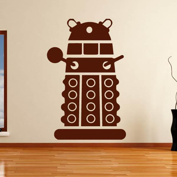 Doctor Who Stylised Dalek Wall Art Sticker - Apex Stickers
