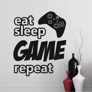 Eat Sleep Game Repeat Xbox Controller Wall Sticker - Apex Stickers