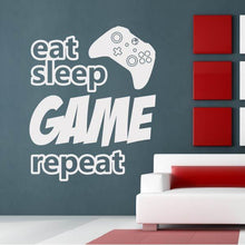 Load image into Gallery viewer, Eat Sleep Game Repeat Xbox Controller Wall Sticker - Apex Stickers
