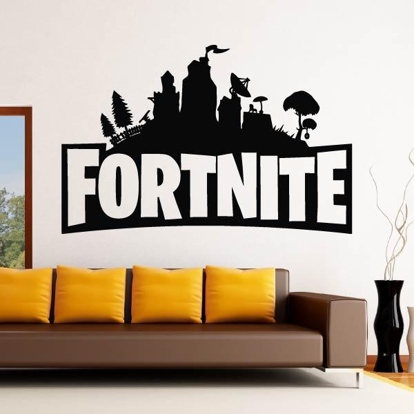 Fortnite Logo Wall Sticker - Apex Stickers