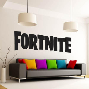 Fortnite Logo Text Wall Art Sticker (AS10375) - Apex Stickers