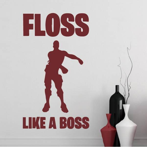 Fortnite Floss Like a Boss Wall Sticker - Apex Stickers