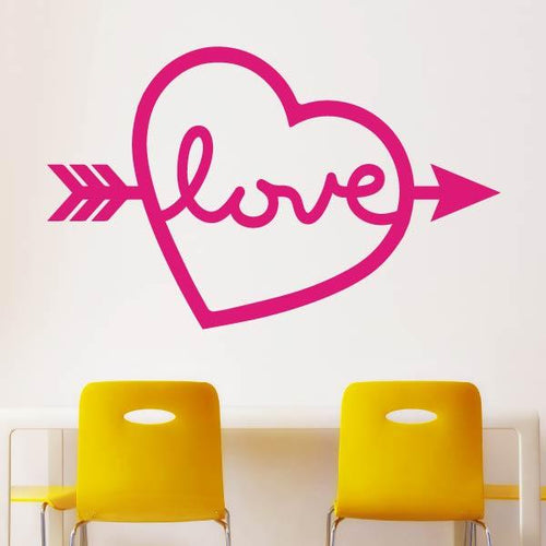 Love Island Heart Arrow Wall Sticker - Apex Stickers