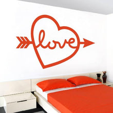 Load image into Gallery viewer, Love Island Heart Arrow Wall Sticker - Apex Stickers
