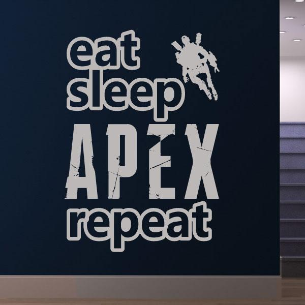 Eat Sleep Apex Legends Repeat Wall Sticker - Apex Stickers
