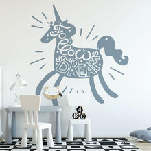 Load image into Gallery viewer, Childrens Unicorn Follow Your Dreams Wall Sticker - Apex Stickers