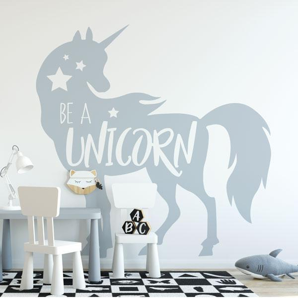 Be a Unicorn Wall Sticker - Apex Stickers