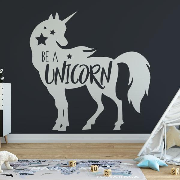 Be a Unicorn Wall Art Sticker (AS10390) - Apex Stickers