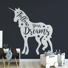 Load image into Gallery viewer, Unicorn Follow your Dreams Wall Sticker - Apex Stickers