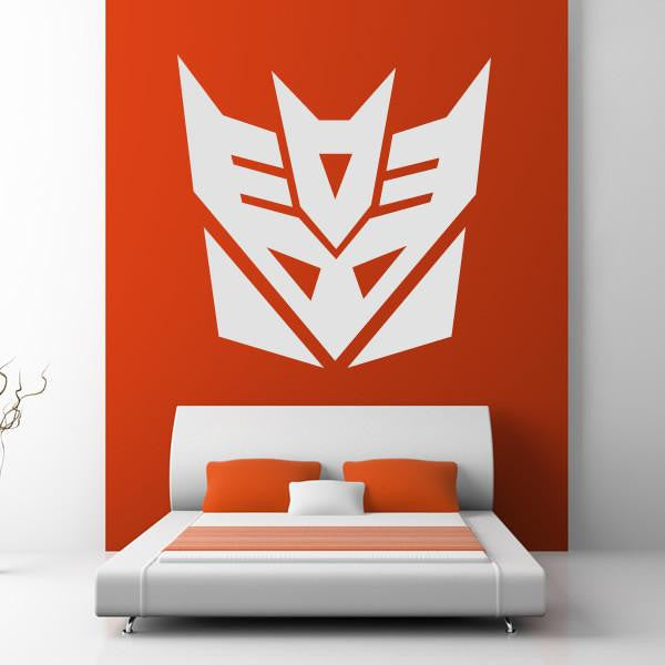 Decepticon Transformers Logo Wall Art Sticker - Apex Stickers