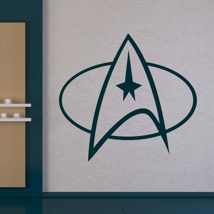 Star Trek Starfleet Insignia Wall Art Sticker - Apex Stickers
