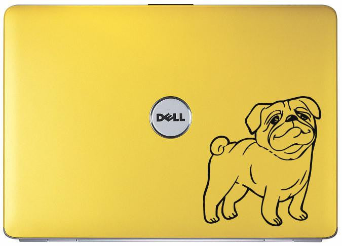 Pug Dog Cartoon Bumper/Phone/Laptop Sticker - Apex Stickers