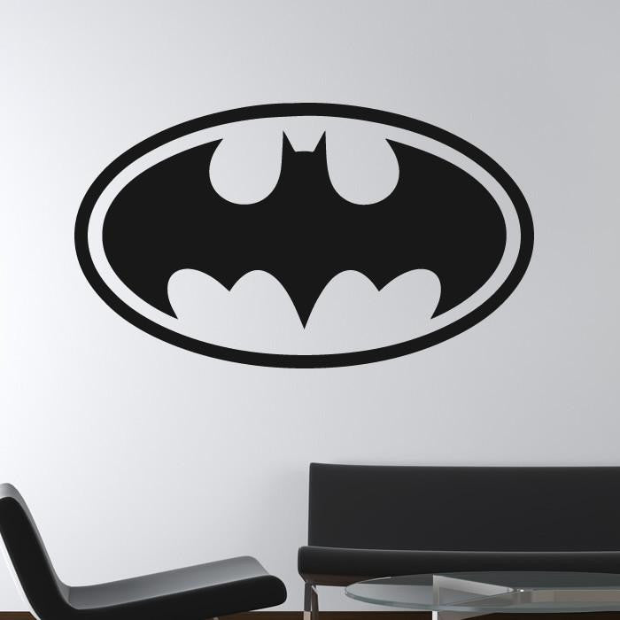 Batman Retro Superhero Logo Wall Art Sticker - Apex Stickers