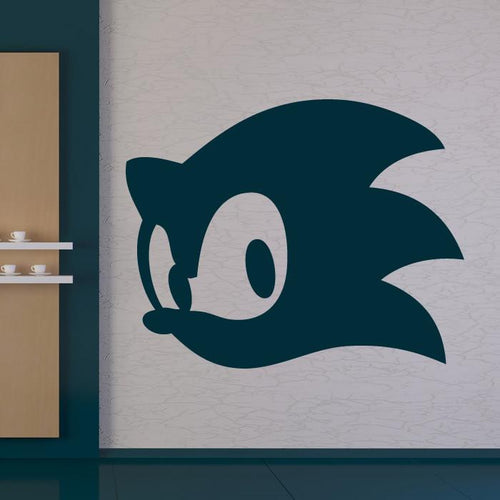 Sonic the Hedgehog Head Wall Art Sticker - Apex Stickers