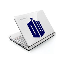 Load image into Gallery viewer, Doctor Who DR Tardis Logo Bumper/Phone/Laptop Sticker - Apex Stickers