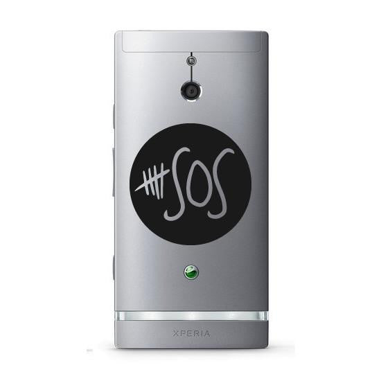 Five Seconds of Summer 5 SOS Band Logo Bumper/Phone/Laptop Sticker (AS11102) - Apex Stickers