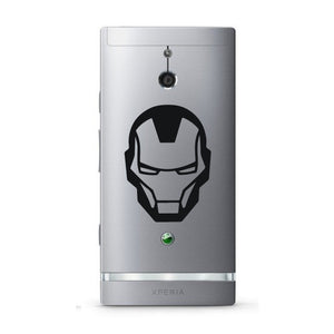 Iron Man Superhero Head Logo Bumper/Phone/Laptop Sticker - Apex Stickers