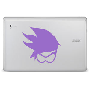 Tracer Head Overwatch Computer Game Bumper/Phone/Laptop Sticker (AS11131)