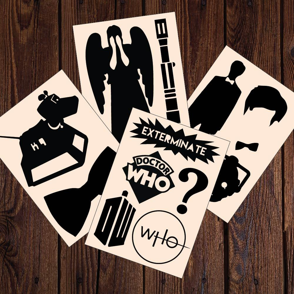 Doctor Who Decals 12 Sticker Multi-Pack - Apex Stickers