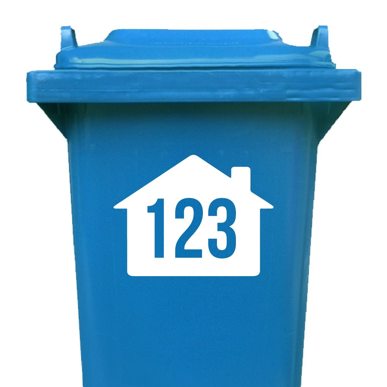 Set of 4 House Design Wheelie Bin Number Stickers - Apex Stickers