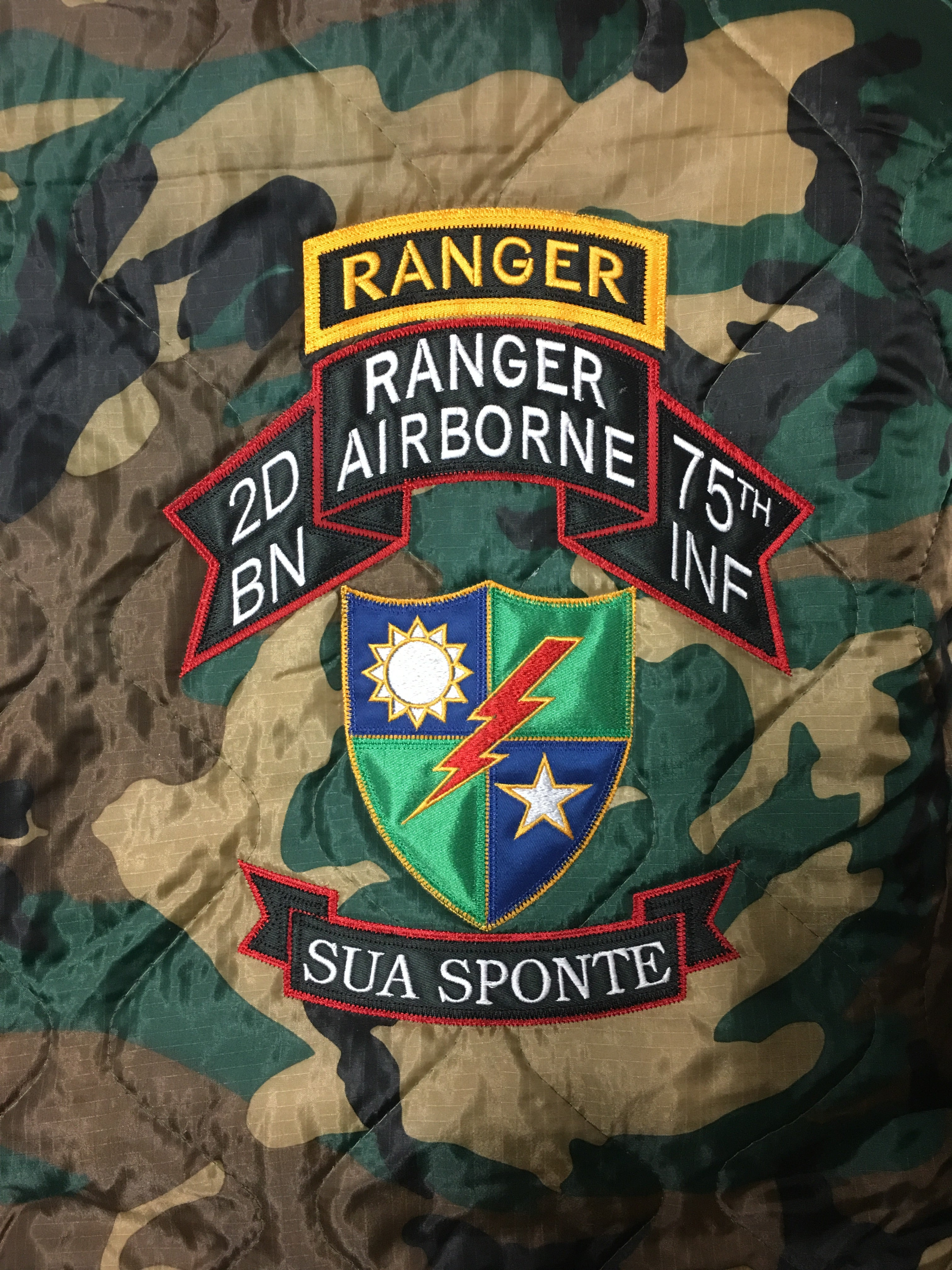 2d Ranger Battalion OLD SCROLL Poncho Liner