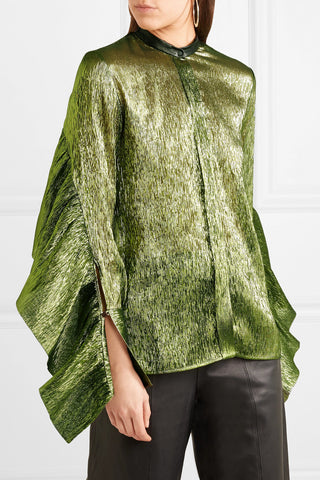 Green metallic shirt