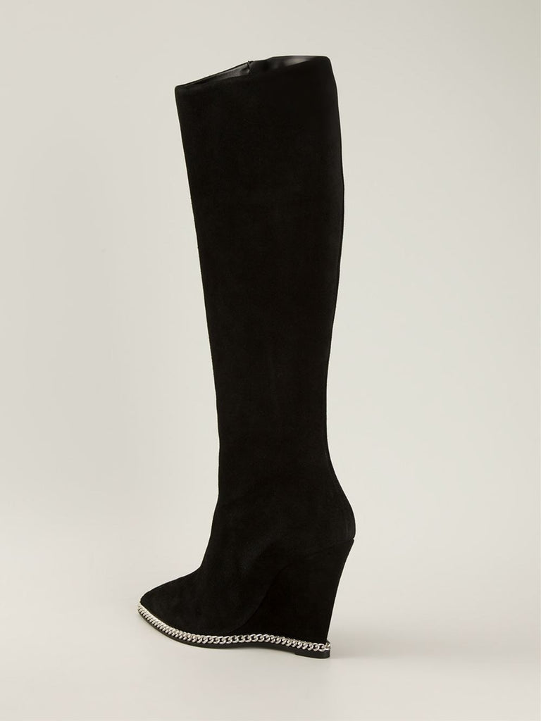 Wedge zip boot