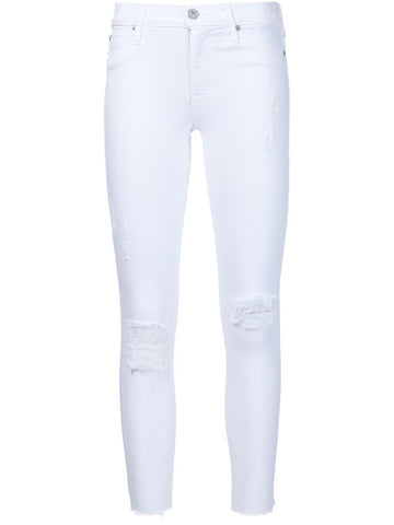 White jeans whit holes and strech from HUDSON