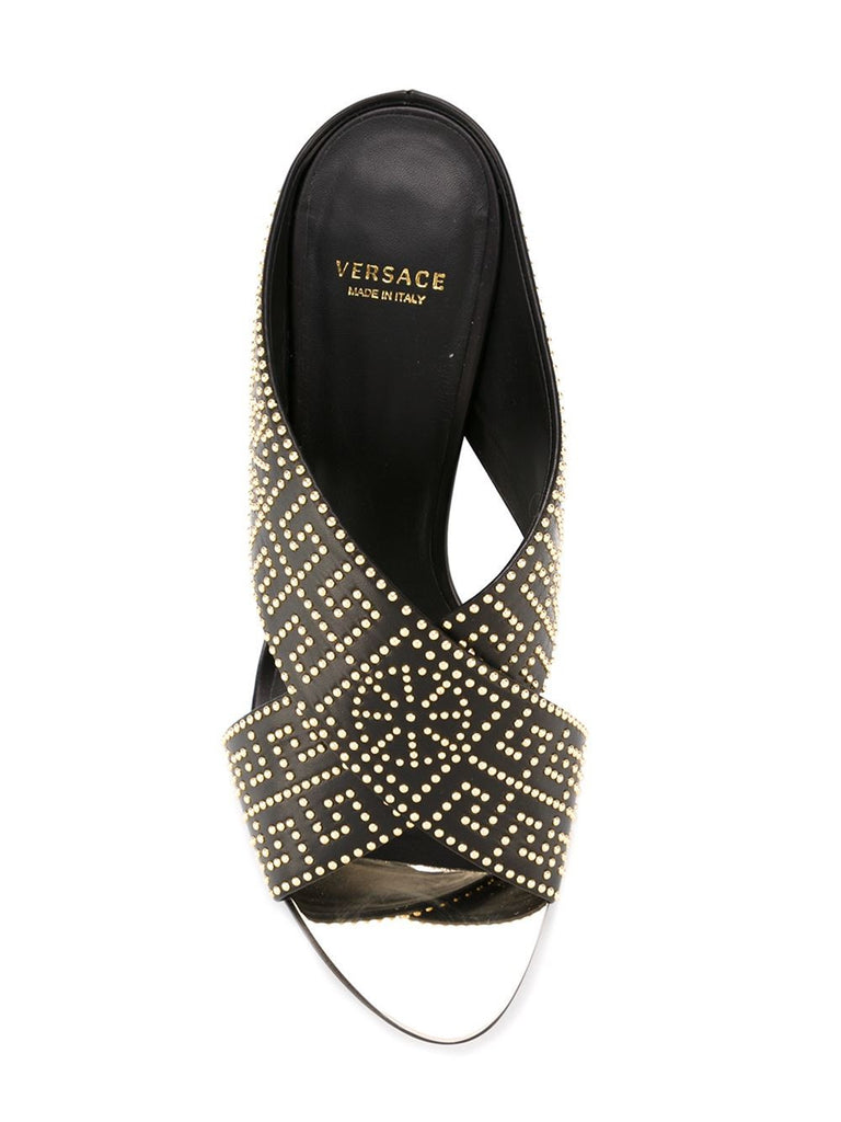 Versace studded mules