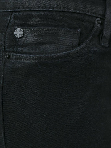 Black washed tie jeans from hudson