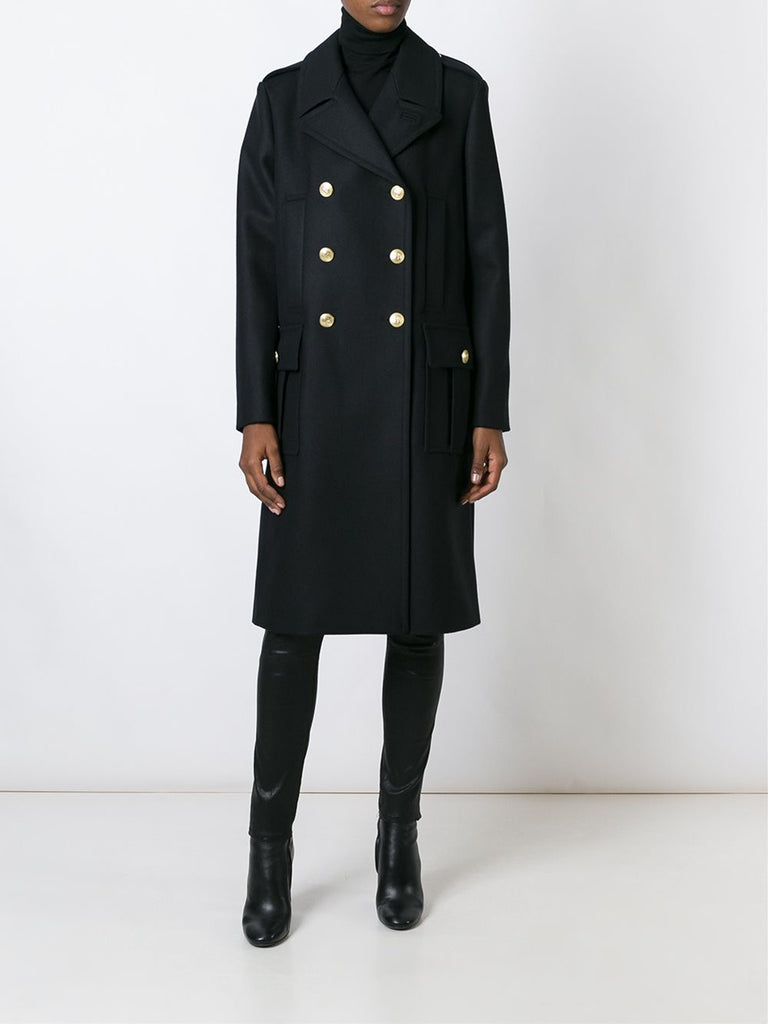 box-pleat pocket coat