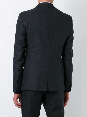Les Hommes layered effect mixed media blazer