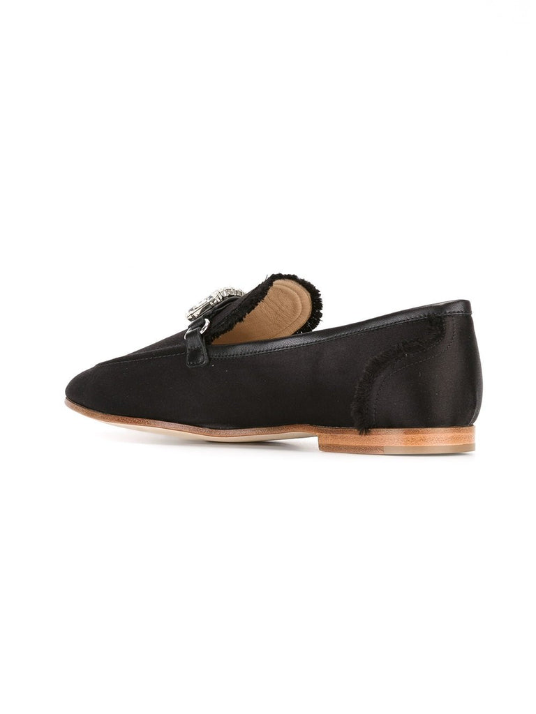 BLACK LOAFER WITH WHITE STONES FROM GIUSEPPE ZANOTTI